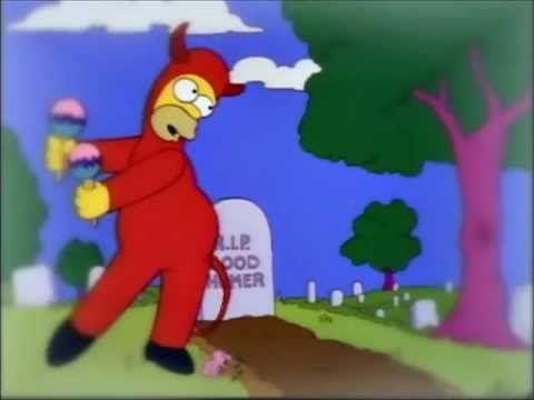 ¿Qué dice Homer en esta escena?