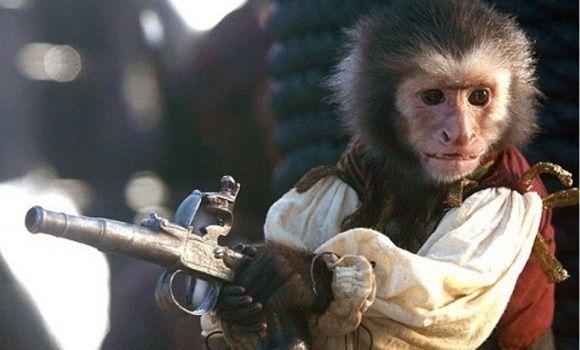 ¿Cómo se llama el mono que aparece durante las películas?