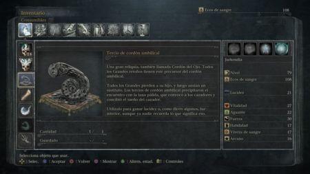 ¿Cuantos cordones umbilicales existen en Bloodborne?