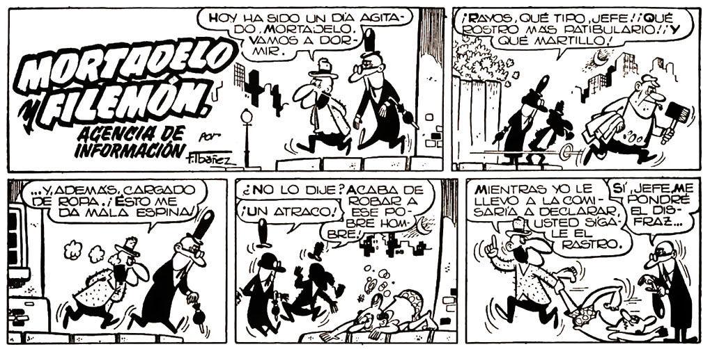 ¿En qué año se publicó la primera viñeta de Mortadelo y Filemón?