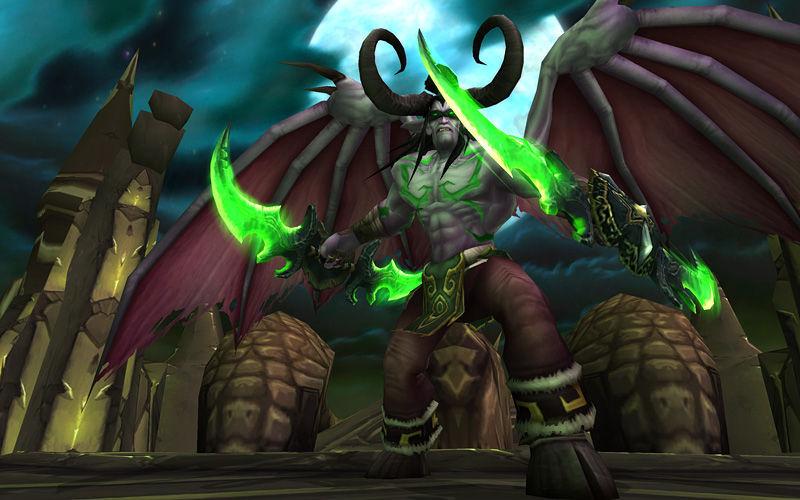 En la batalla del Templo Oscuro, los campeones, en su lucha con Illidan, reciben la ayuda de...