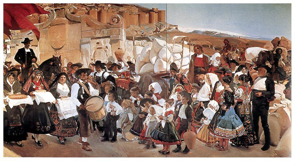 ¿Qué museo neoyorquino contiene las Visiones de España, del pintor Joaquín Sorolla?