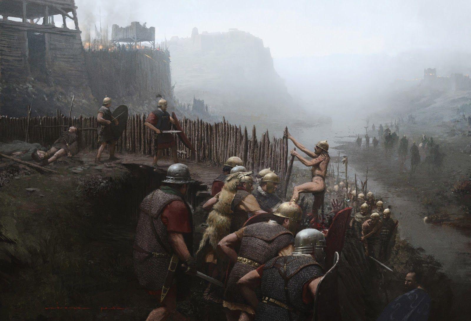 La Batalla de Alesia enfrentó a los romanos (60000-80000 soldados) y a los galos (330000) ¿Quiénes dirigió la batalla?