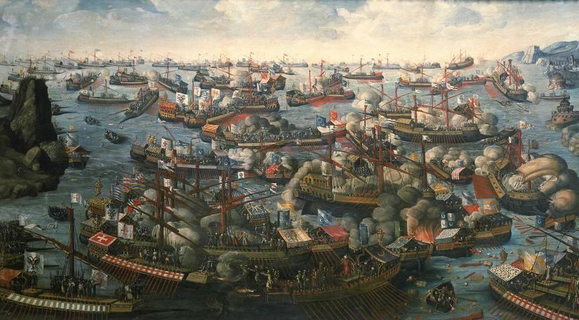 La Batalla de Lepanto reforzó la hegemonía cristiana en el Mediterráneo. ¿Qué dos bandos se enfrentaron?