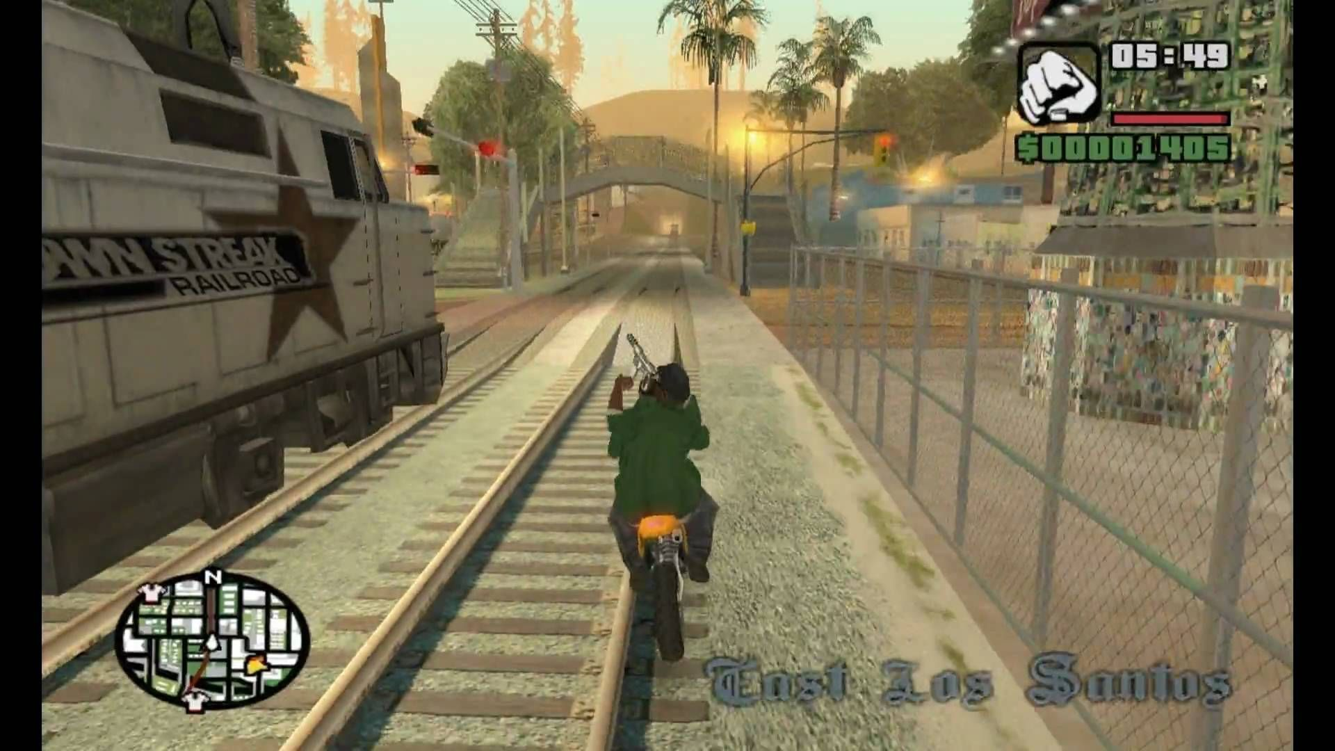 ¿Qué famosa frase dice Big Smoke si dejamos ir el tren en la misión