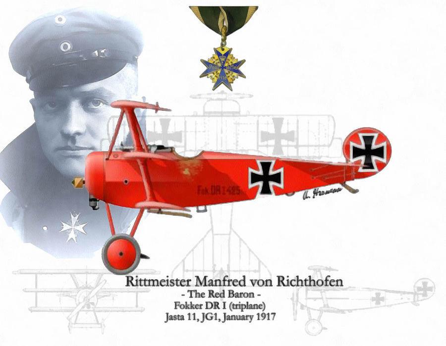 El Barón rojo, el mejor piloto de la guerra (honrado por sus enemigos tras su muerte). ¿Cuántas bajas están confirmadas?