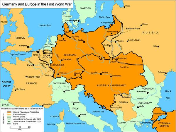 ¿Con qué tratado se puso fin a la guerra entre los Aliados y el Imperio Alemán en 1919?