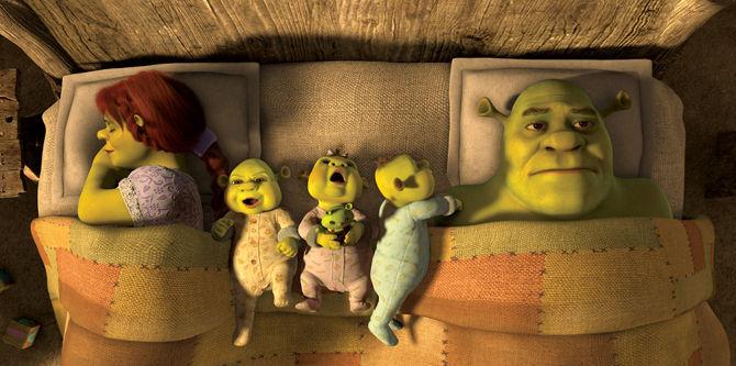 El nombre de los bebés de Shrek y Fiona es: