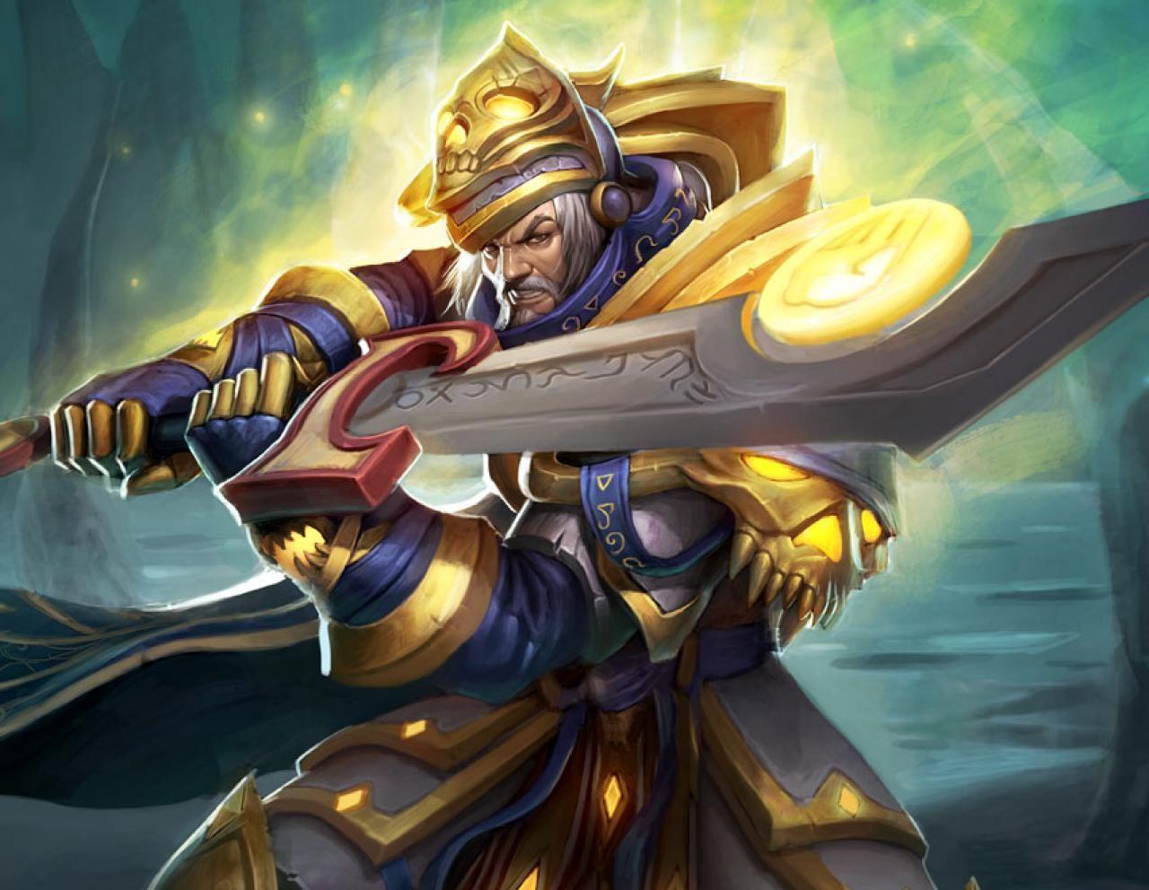 Tirion Vadin, el mejor paladín de Azeroth, encabeza el ataque. ¿Cómo se llama la poderosa espada que porta?