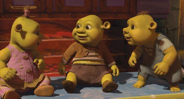 ¿De que color son los ojos de la hija de Shrek?