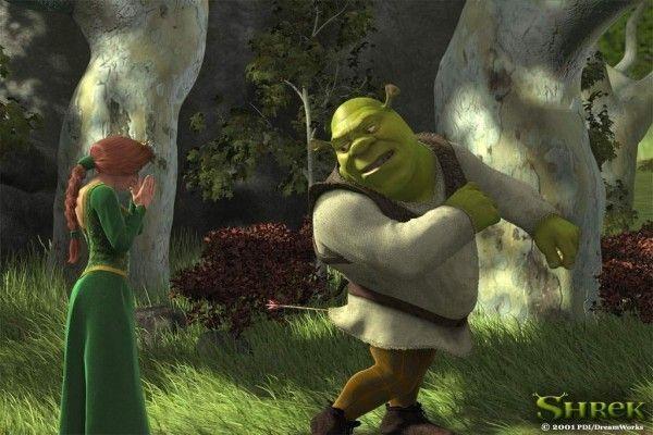 Cuando Shrek recibe una flecha en su trasero en la primera película, Fiona le pide a Asno que traiga: