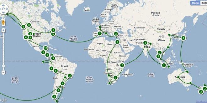 ¿Cuál de estas rutas tiene una duración más larga?