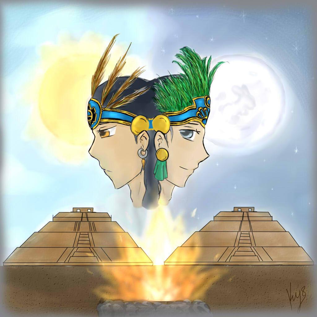 El quinto sol se llamó Tonatiuh, y para crearlo se necesitaron sacrificios. ¿Qué dioses se ofrecieron?