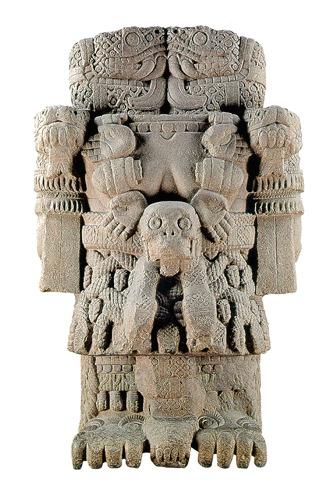 ¿Cómo se llama la madre de Huitzilopochtli, el dios de la guerra?
