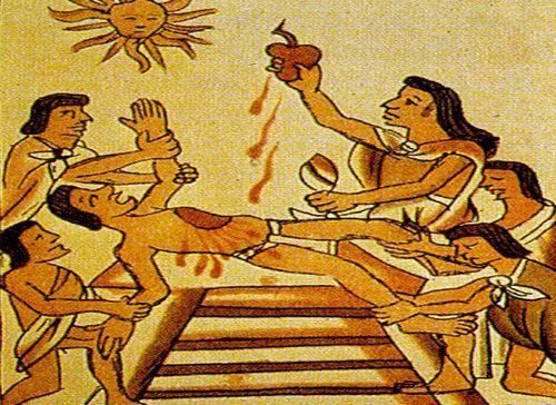 ¿Por qué los aztecas realizaban sacrificios humanos?