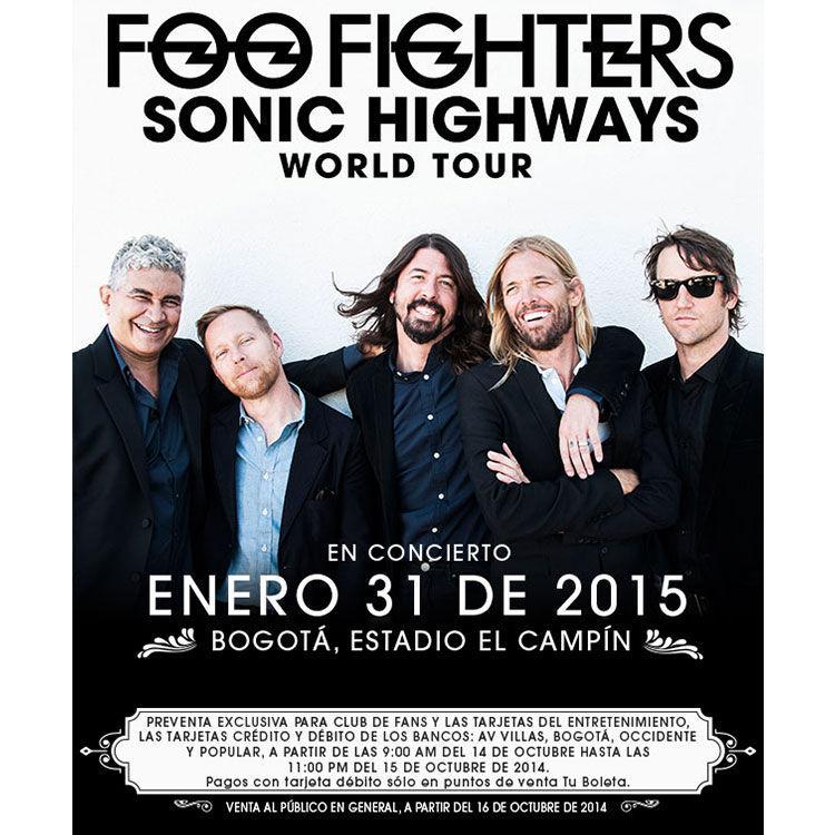 En el concierto en Colombia de su gira Sonic Highways, se presentó un problema, ¿podrías decir cuál fue el problema?