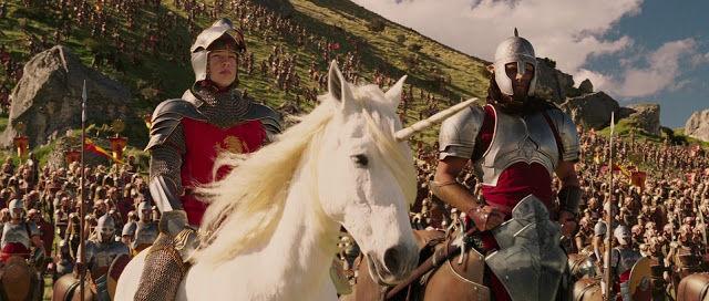 Aslan le dice a Peter que tome el mando para la batalla. ¿Dónde se librará la contienda?
