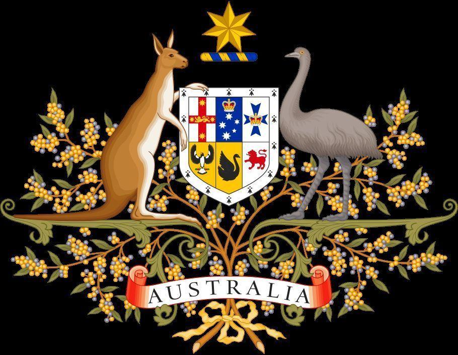 En el escudo de Australia ¿Qué animales podemos observar a sus lados?