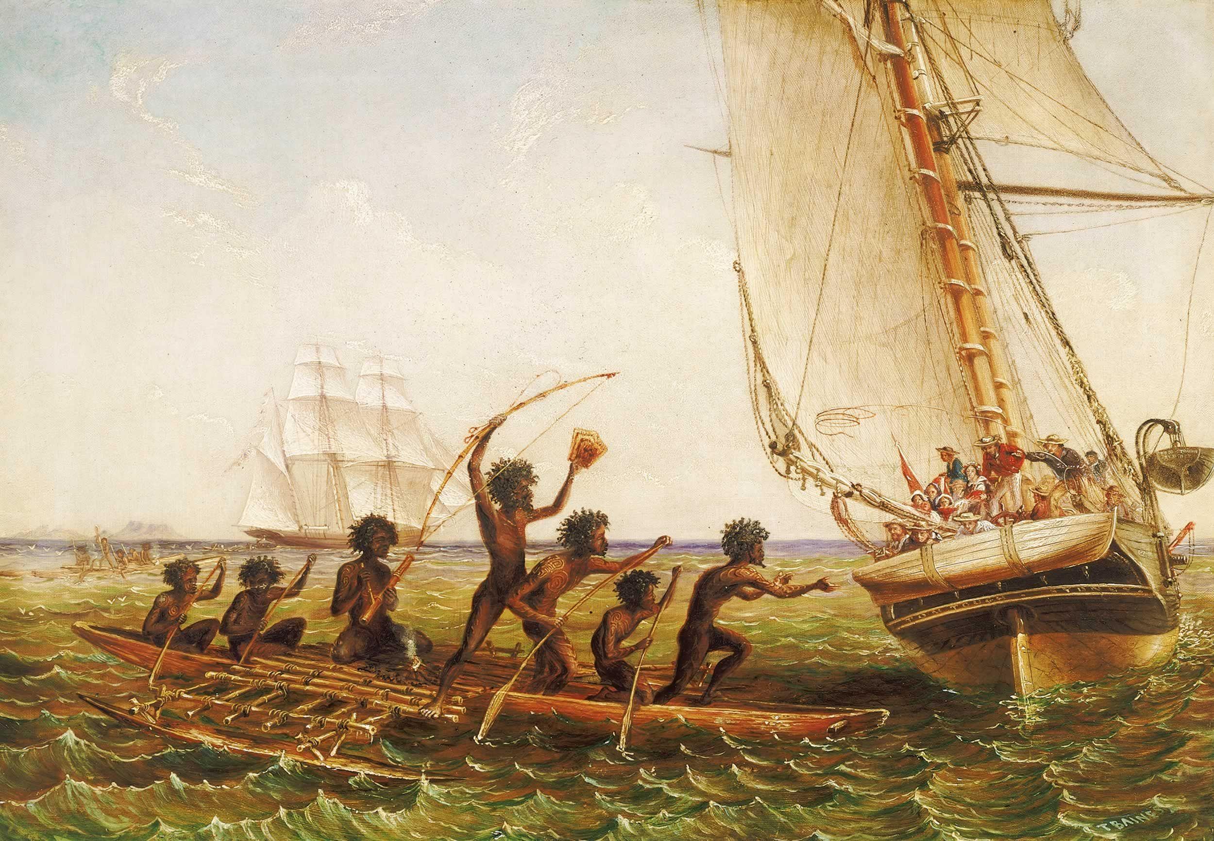 ¿Quiénes fueron los primeros que descubrieron Australia, según la historia?