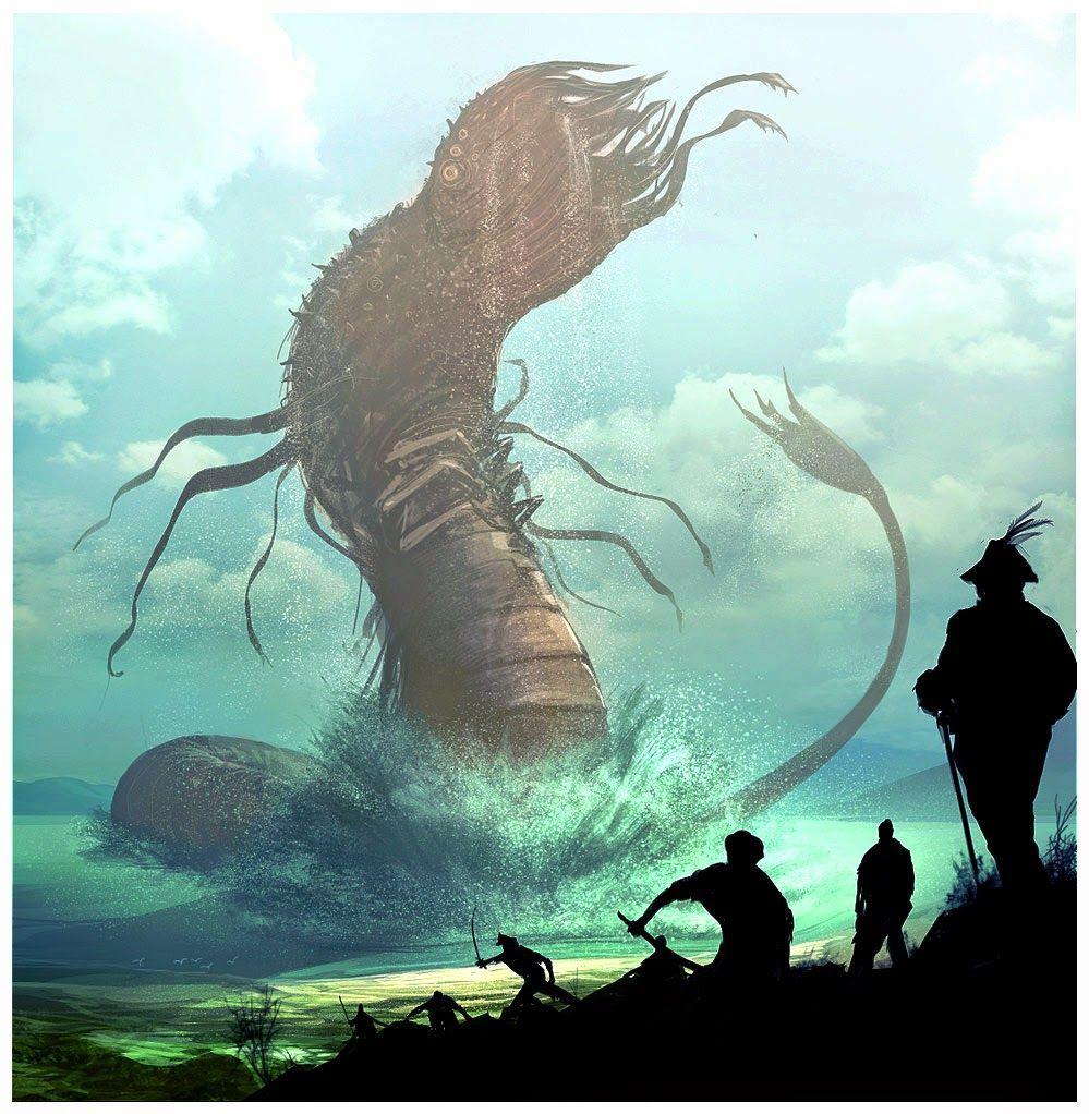 Sabían de vuestra presencia y antes de que ataquéis invocan mágicamente a un enorme monstruo de las profundidades del lago