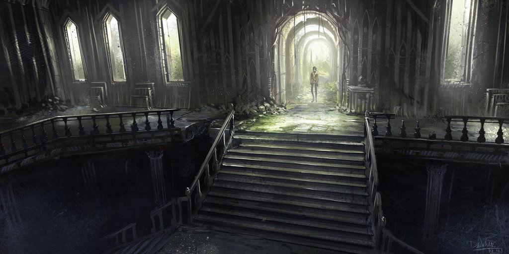 Si entras al castillo, las sombras de noches anteriores cobran forma humana y os/te ayudan.
