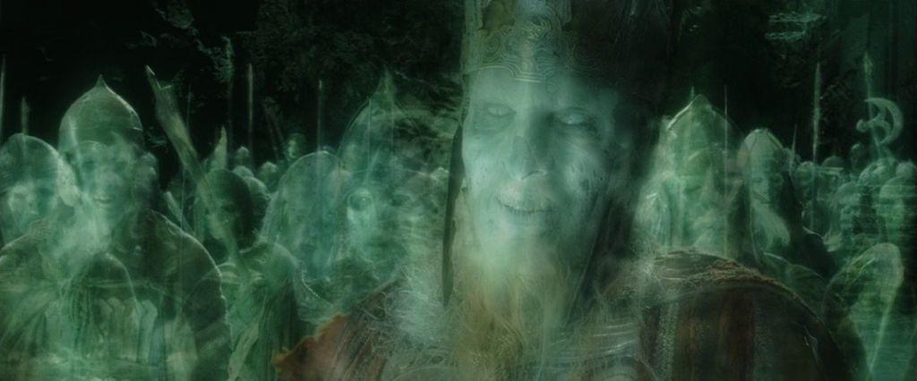 ¿El ejercito de los muertos participó en la batalla de Minas Tirith?