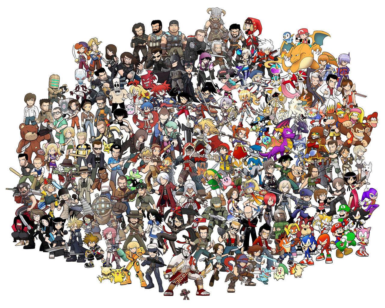 5809 - ¿Sabrías identificar a estos personajes de videojuegos por sus marcas?