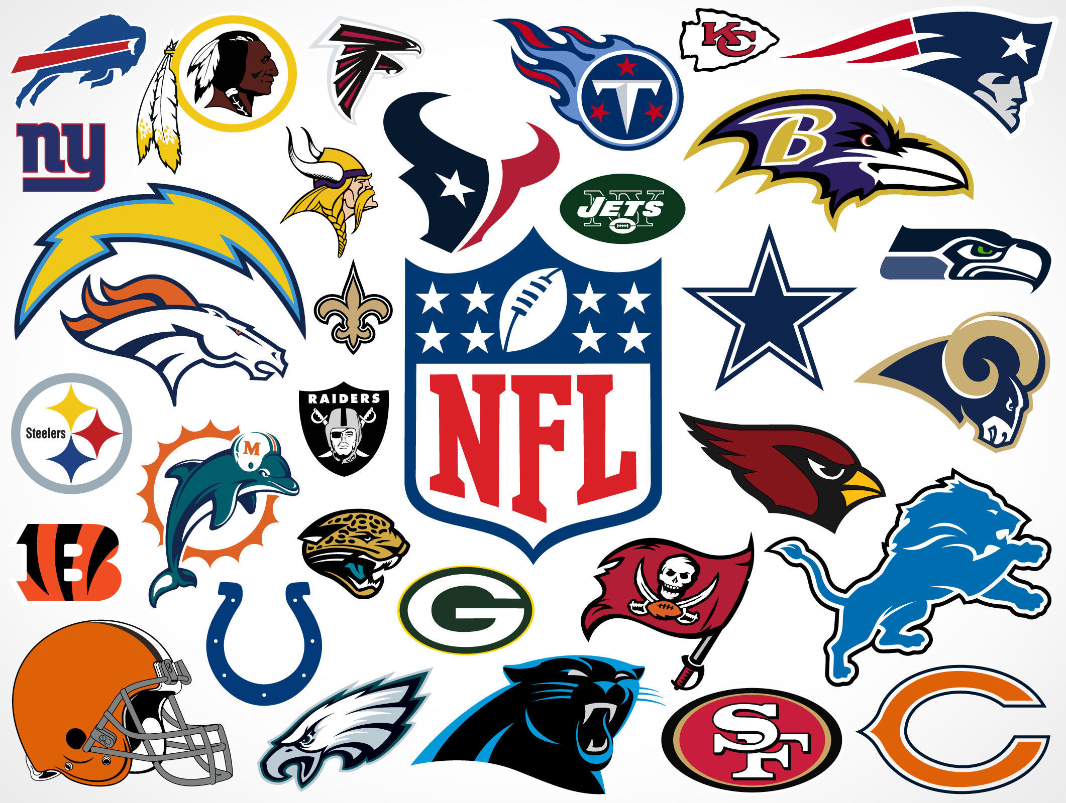 5824 - ¿Puedes relacionar estos escudos de la NFL con el equipo?