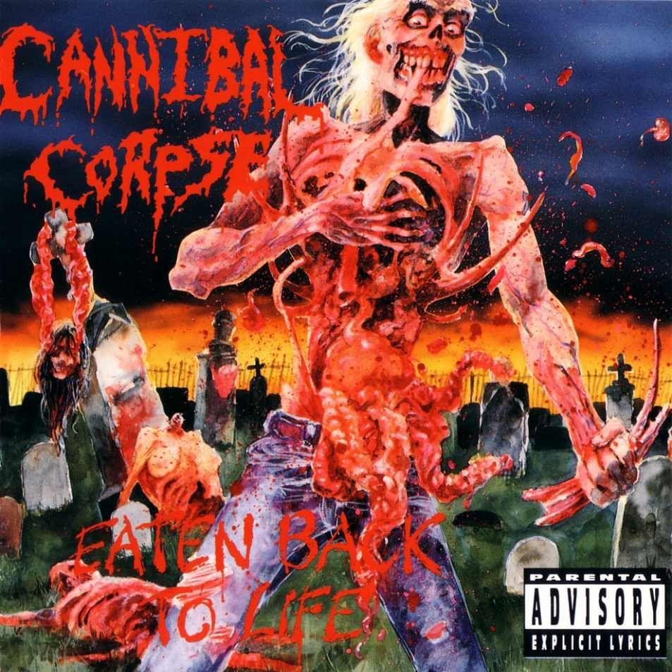 ¿Qué famoso cantante de death metal colaboró en varios temas del 'Eaten Back to Life' de Cannibal Corpse?