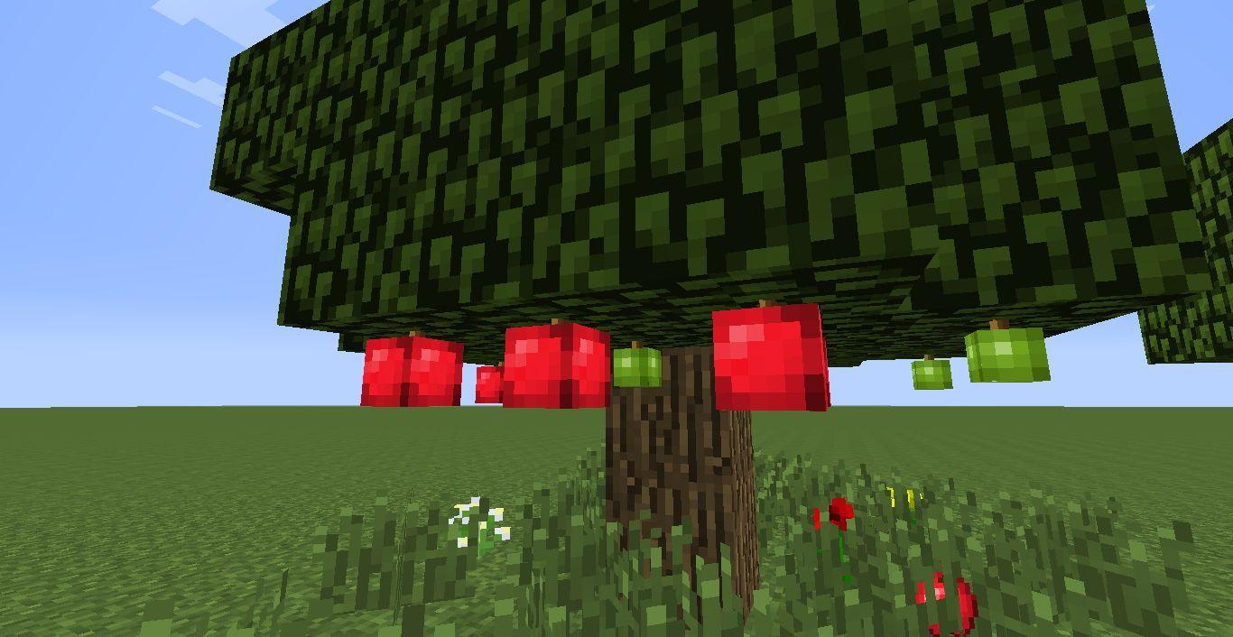 ¿En qué bioma puedes encontrar los arboles de manzanas?