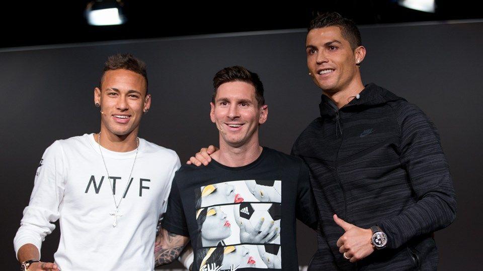 ¿Que porcentaje de votos recibió Neymar en la gala del Balón de Oro 2015?