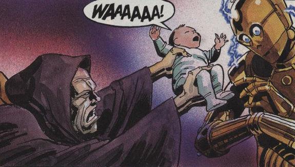 Tras ello muere dos veces, pero en el 11DBY muere para siempre tras intentar entrar en el cuerpo del entonces bebe...