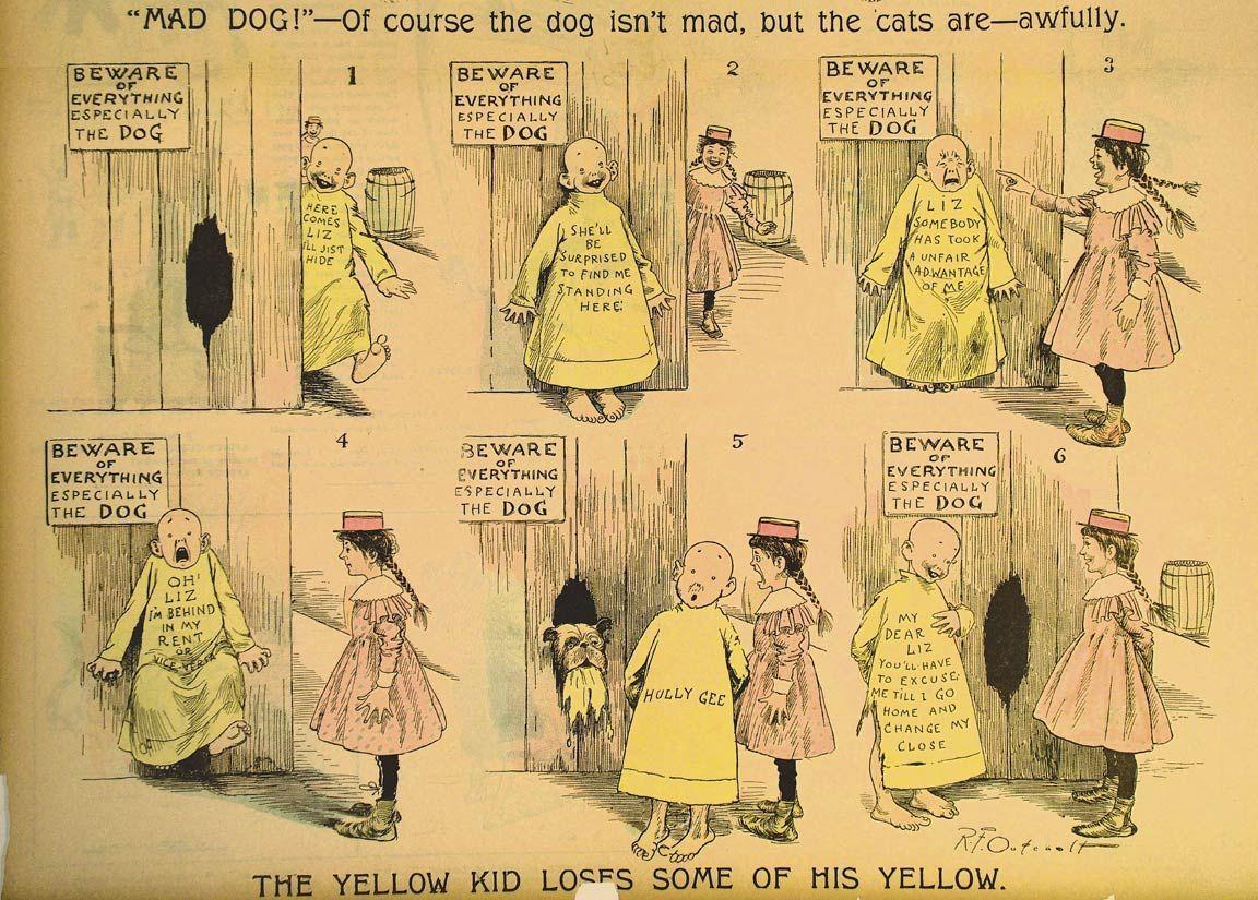 ¿Cuál fue la primera historieta en usar globos o bocadillos para contener el diálogo de los personajes?