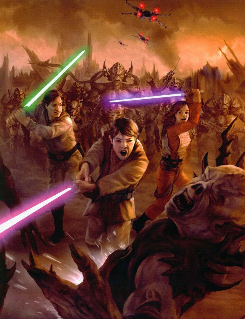 Anakin Solo (el hijo pequeño de los Solo) muere en esta guerra, sacrificándose. Además otro mítico personaje muere. ¿Cuál?