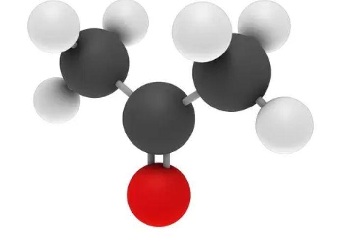 La molécula de acetona (propanona). ¿Tiene algún tipo de carga?