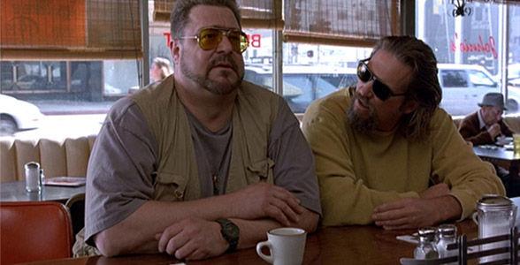 ¿A qué enmienda constitucional hace referencia Walter en la cafetería?