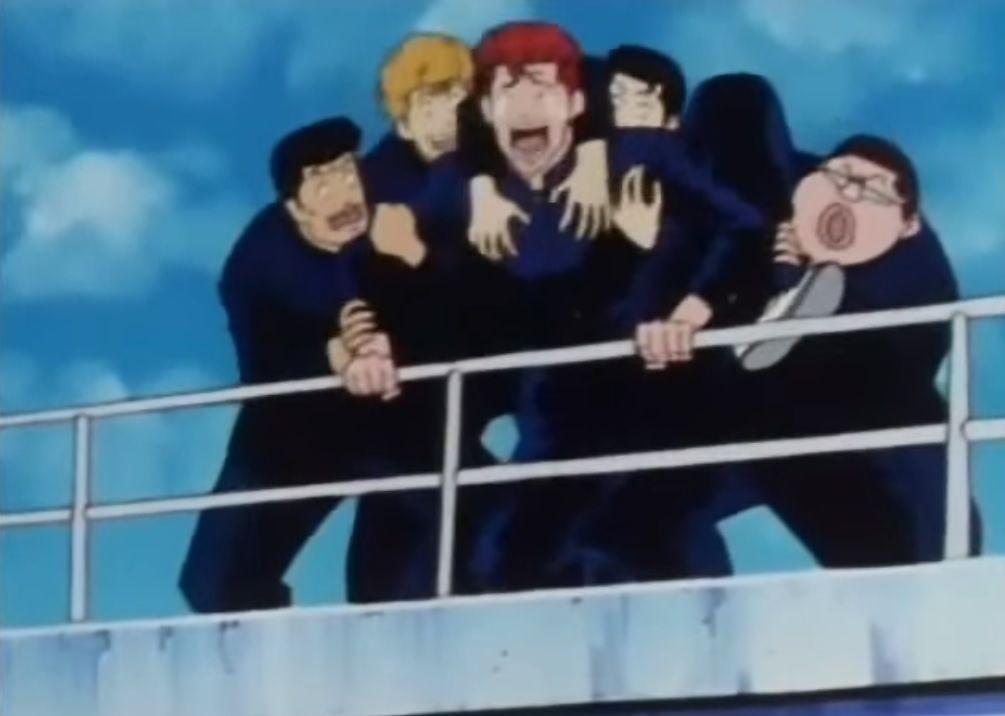 ¿Por qué Hanamichi se quiere tirar desde la terraza de su instituto?