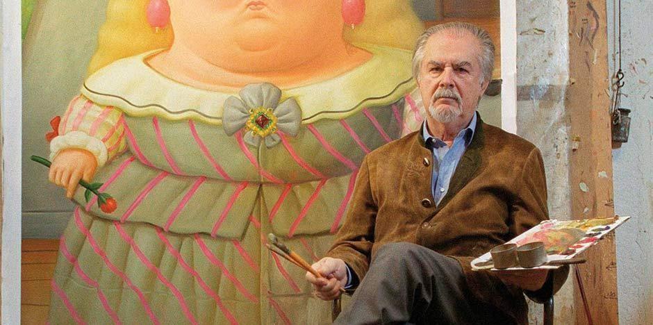 Pintor y escultor colombiano reconocido por sus obras en las cuales el aumento de volumenes es fundamental...