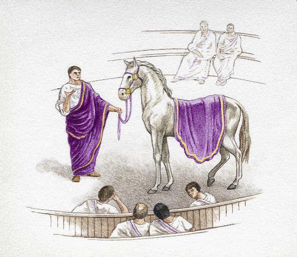 Ahora, Roma: ¿Qué emperador nombró Cónsul a su caballo?¿Y el nombre del caballo?