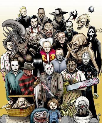 6540 - Relaciona cada actor con el personaje/monstruo de terror que ha interpretado en estas películas.