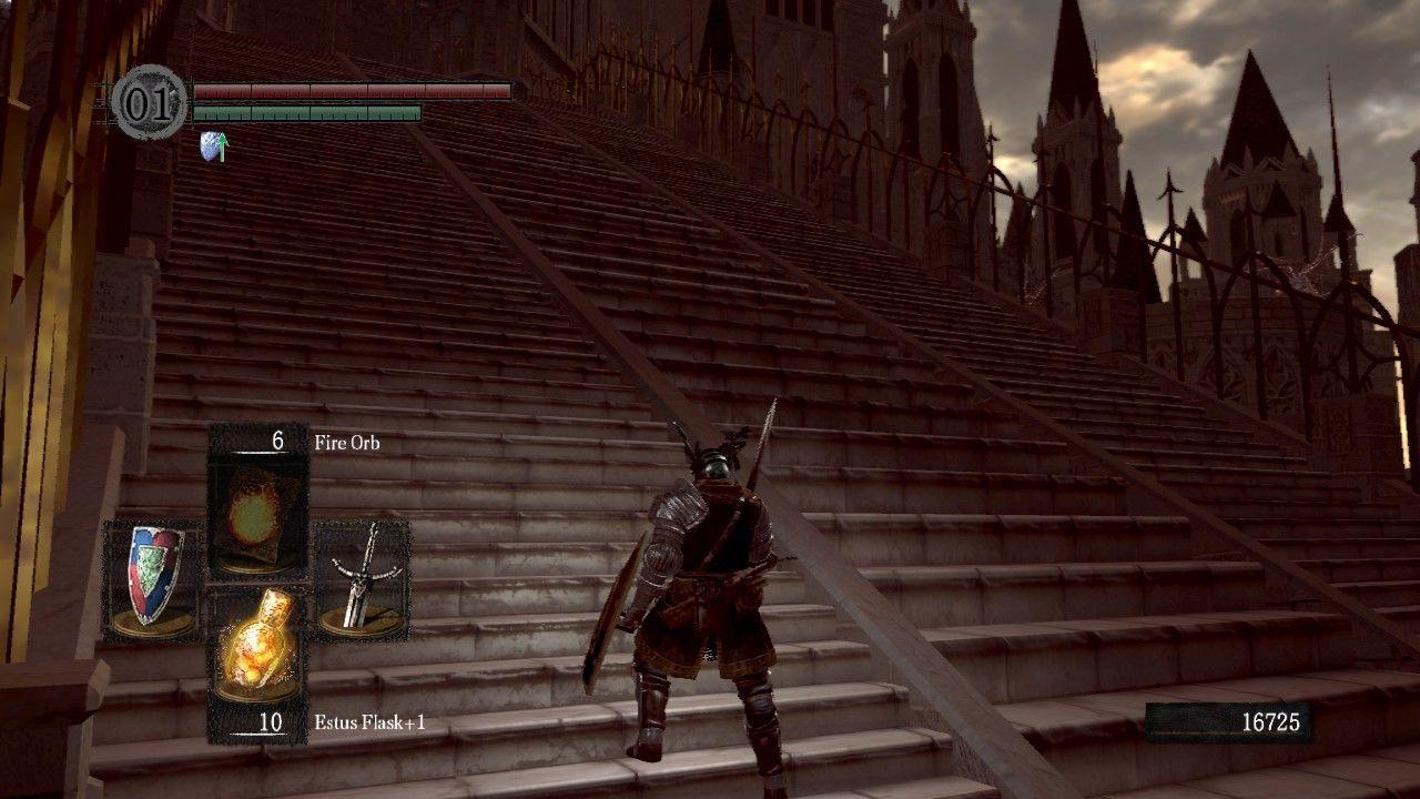 ¿Por qué hay dos tipos de escalera diferentes en Anor Londo?