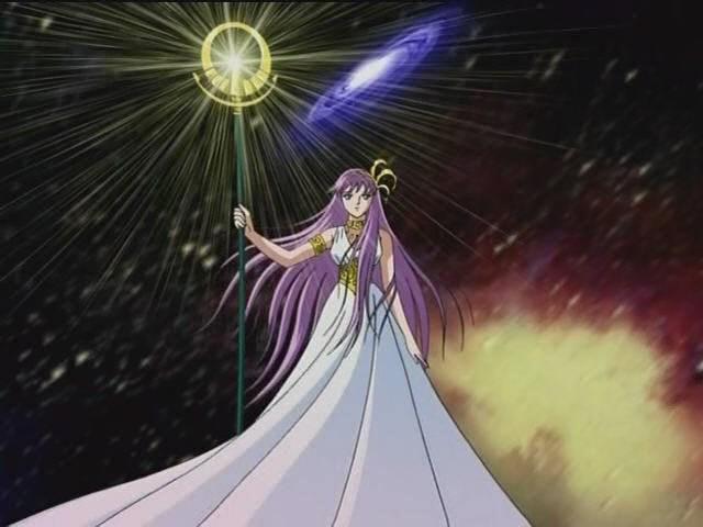 Seguimos con Saint Seiya, ¿qué es el cetro que lleva Saori en la mano?