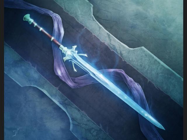 Encuentras una espada de la que emana un gran poder. Puede hablar y te pide que la empuñes...