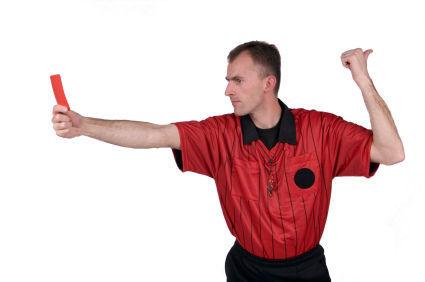 ¿Qué haces si el árbitro te saca tarjeta?