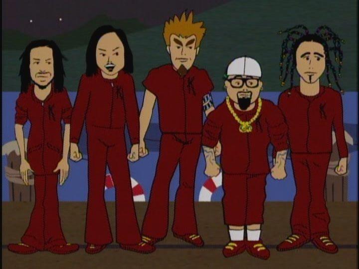 ¿En que serie animada fue invitada la banda?