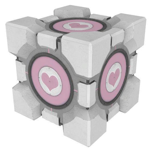Nombre del cubo que usamos, robamos y desintegramos? (Portal 2)