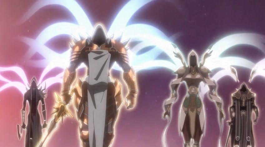 ¿Como se llaman las armas que portan Imperius y Tyrael, nuestros héroes?