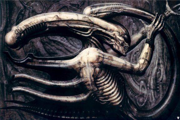 ¿En qué obra de H. G. Giger está inspirada la figura del xenomorfo?