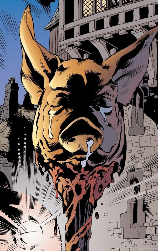 ¿Cómo se llama el cerdo que asesinan como advertencia sobre la rebelión?