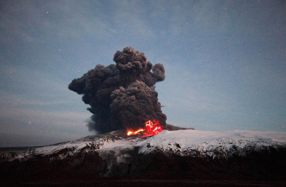 En 2010 la erupción de este volcán afectó al tráfico aéreo de toda Europa